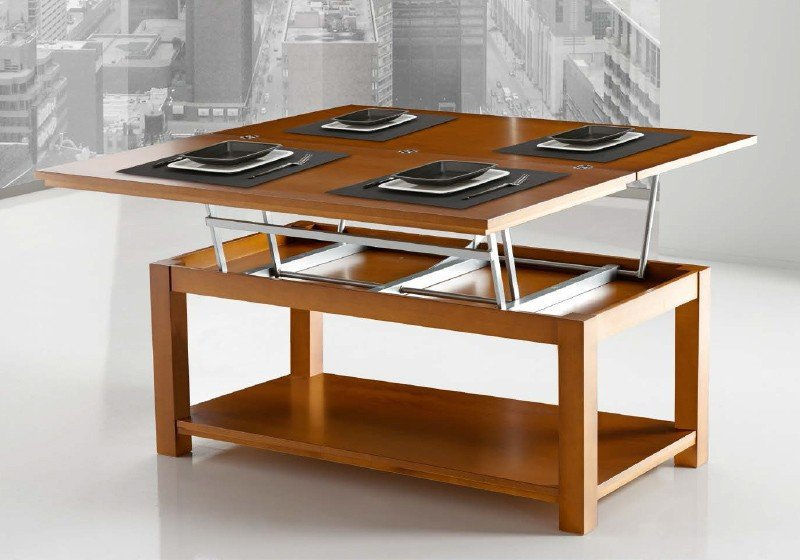 Mesa central convertible comedor Disemobel Mod 51 / 59