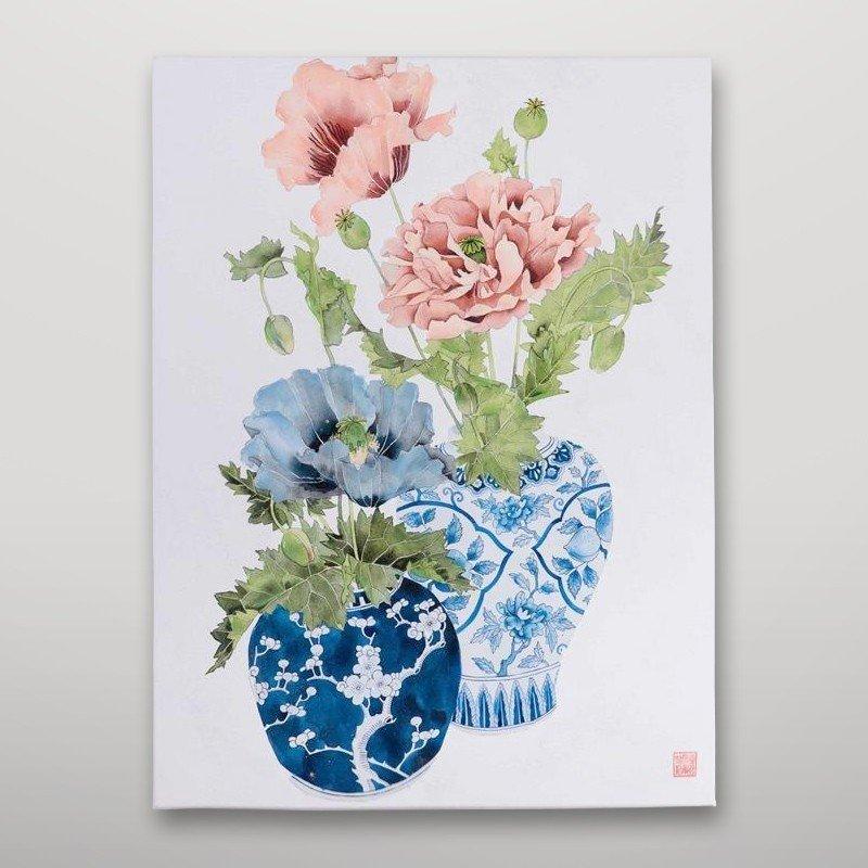 Cuadro jarrones con flores Gajisa