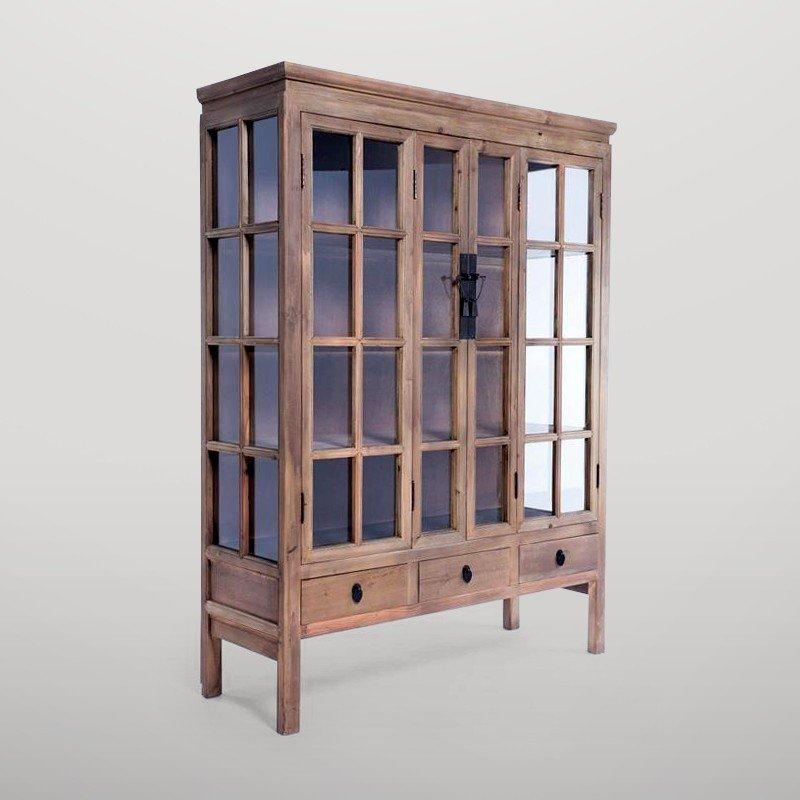 Vitrina madera natural (II) Gajisa