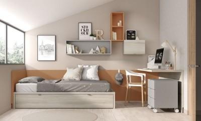 Dormitorio Juvenil Mood 02, de Muebles ROS