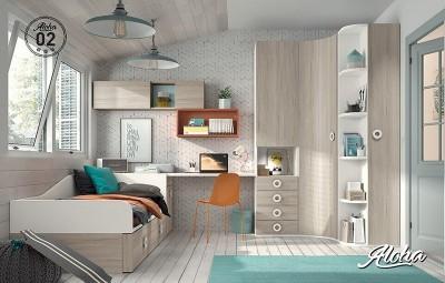 Dormitorio juvenil Aloha 02