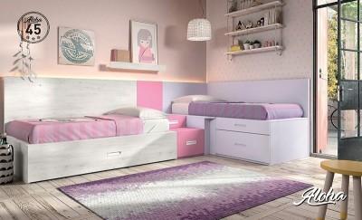 Dormitorio juvenil Aloha 45