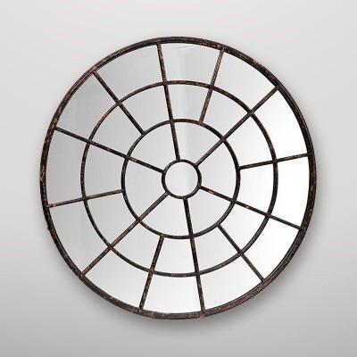 Espejo circular con estructura rueda Gajisa