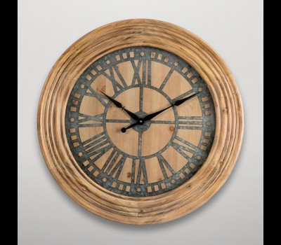 Reloj de pared con marco estriado Gajisa