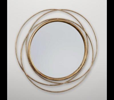 Espejo pared circular dorado Gajisa