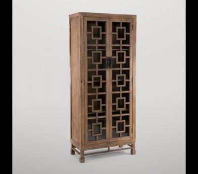 Vitrina madera natural Gajisa